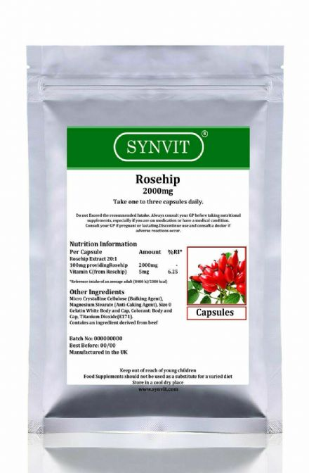 Rosehip 2000mg x 120/360 Capsules; Synvit